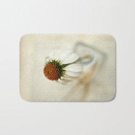 White Cone Flower Bath Mat