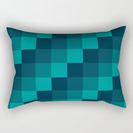 Ocean Waves - Pixel patten in dark blue Rectangular Pillow