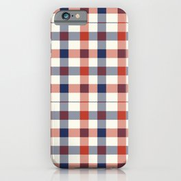 Plaid Red White And Blue Lumberjack Flannel iPhone Case