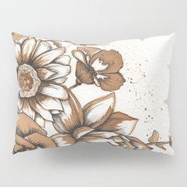 Coffee Art- Flowers Pillow Sham