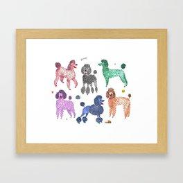 Poodles by Veronique de Jong Framed Art Print