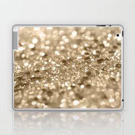 Champagne Gold Lady Glitter #2 #shiny #decor #art #society6 Laptop & iPad Skin