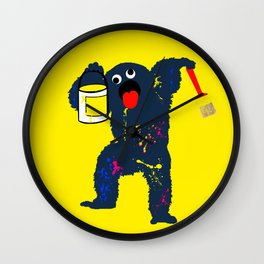 paint like a monster Wall Clock