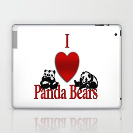 I Heart Panda Bears Laptop & iPad Skin