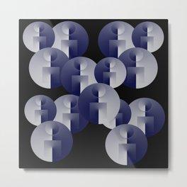 Round Spheres Metal Print