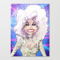 dolly parton Canvas Prints featuring DOLLY PARTON by Jessica Dudfield