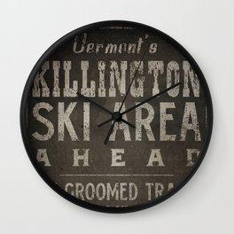Killington Mountain Ski Area Sign Vermont Wall Clock