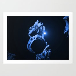 Digital Anemone Art Print