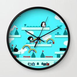 Rainbow Island Wall Clock