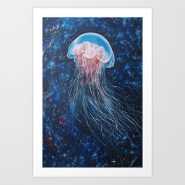 Space JellyFish Art Print