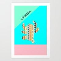 stitch Art Prints featuring stitch  by Vanessa Tanadi