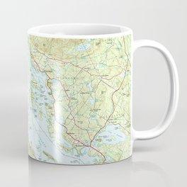 Lake Winnipesaukee Map (1986) Coffee Mug