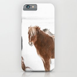 Icelandic Horse In Winter Art Print | Iceland Photo | Travel Photography iPhone Case