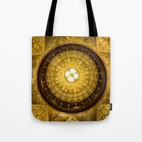 college Tote Bags featuring Flagler College by MucklowArt