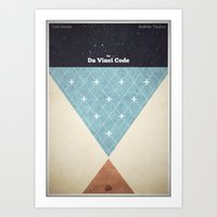 da vinci Art Prints featuring The Da Vinci Code by Mads Hindhede Svanegaard