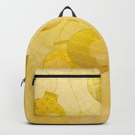 Gold Christmas Ornaments Backpack