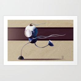 Run, Robot, Run! Art Print