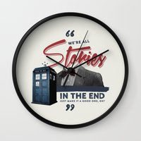 doctor who Wall Clocks featuring Doctor Who  by thatfandomshop