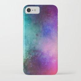 Mystical azure galaxy iPhone Case