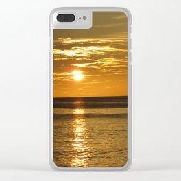 Grenada Sailboat Sunset Clear iPhone Case