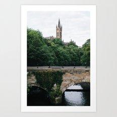 The Kelvingrove in Glasgow, Scotland Art Print