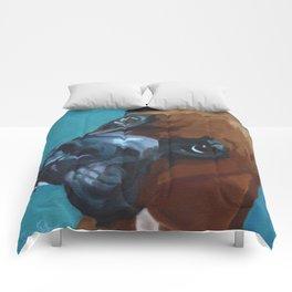 Leo the Boxer Dog Portrait Comforters