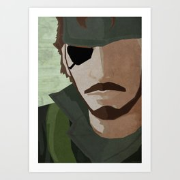 The Big Boss - Metal Gear Solid 3: Snake Eater Art Print