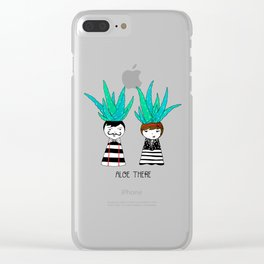 Aloe There Clear iPhone Case