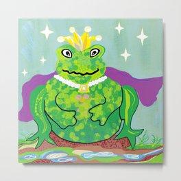 Kiss a Frog Metal Print