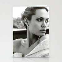 angelina jolie Stationery Cards featuring Angelina Jolie by Sport_Designs