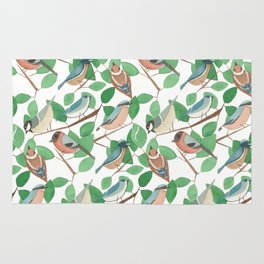 Birds and Leaves Rug