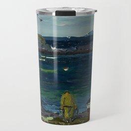 The Harbor, Monhegan Coast, Maine, 1913 Travel Mug