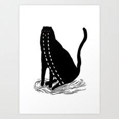 ze kat Art Print