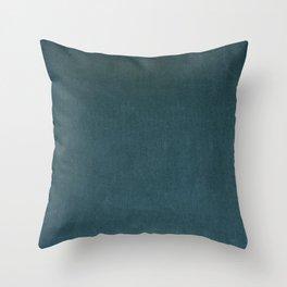 Slate Grey Velvet Texture Throw Pillow