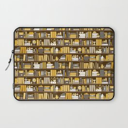 Book Case Pattern - Yellow Grey Laptop Sleeve
