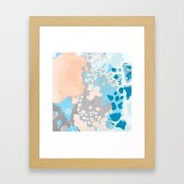 Freya - Painted minimal bright summer palette boho abstract decor minimalist Framed Art Print