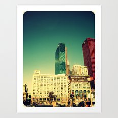 Chicago Retro Skyline ~ architecture Art Print