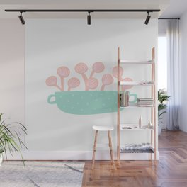 Planter with Flowers Wall Mural
