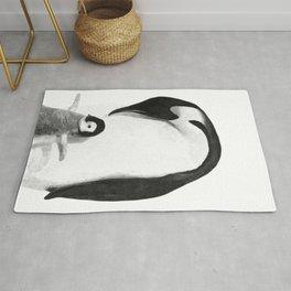 Black and White Penguins Rug