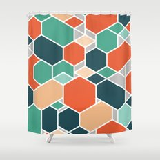 Hex P Shower Curtain