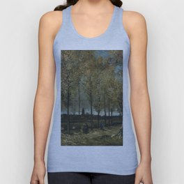 Vincent Van Gogh - Lane with Poplars Unisex Tank Top