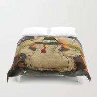 turkey Duvet Covers featuring Turkey Time by IowaShots