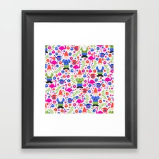 Gnome Garden Framed Art Print