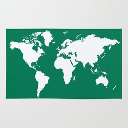 Emerald Elegant World Rug