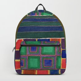 Four Squares with Check Patterns Backpack