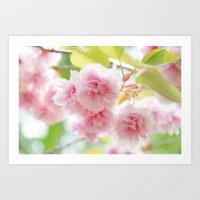 sakura Art Prints featuring sakura by yumehana design fine art photography