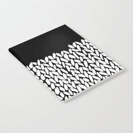 Half Knit  Black Notebook