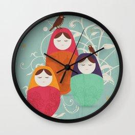 Matryoshka II Wall Clock
