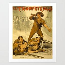 The Trumpet Calls Art Print