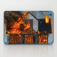 house iPad Cases featuring House on Fire by FAMOUS WHEN DEAD
